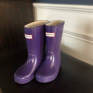 Girls size 8 Hunter boots